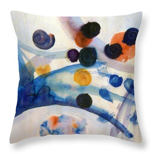 Abstract Throw Pillow featuring the painting Under The Sea by Steve Karol