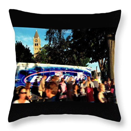 Photography Throw Pillow featuring the photograph Under The Watch Tower by Frederic A Reinecke