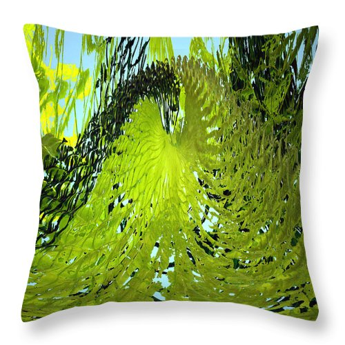 Seaweed Throw Pillow featuring the photograph Under Water by Merja Waters