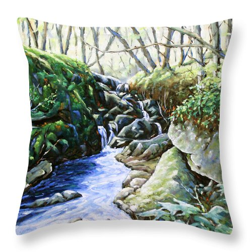 Peintre Throw Pillow featuring the painting Under Wood 02 by Richard T Pranke