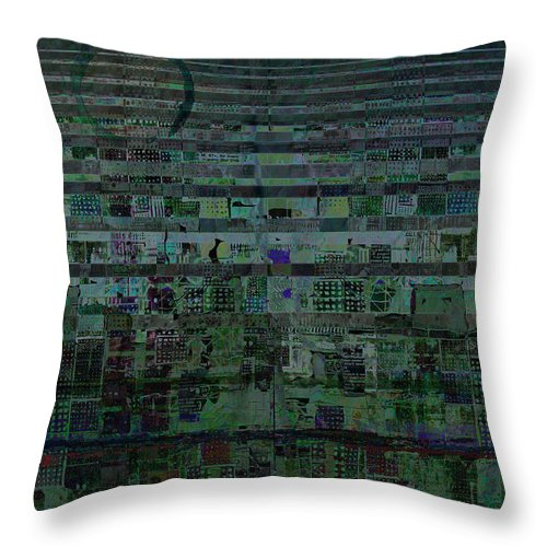Undercurrent Throw Pillow featuring the digital art Undercurrent by Andy Mercer