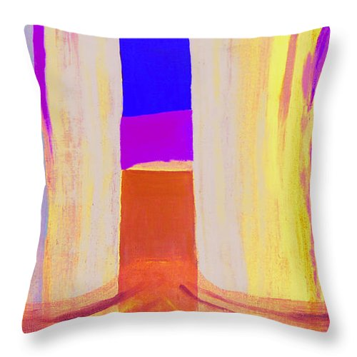 Landscape. Norwegian Title dragsug Throw Pillow featuring the painting Undertow. by Jarle Rosseland
