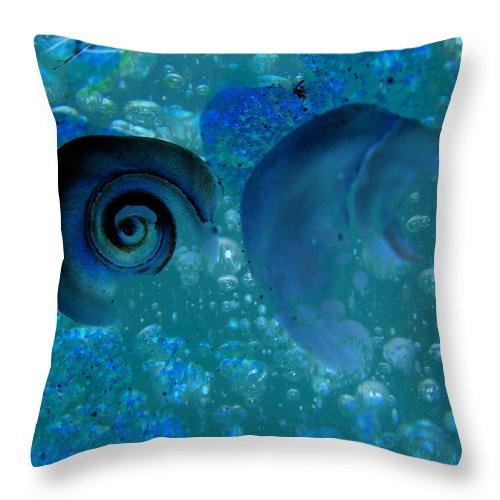 Underwater Throw Pillow featuring the digital art Underwater Eye by Laura Brightwood
