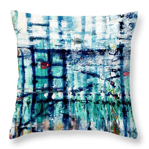 Underwater Throw Pillow featuring the painting Underwater Oil Painting by Andy Mercer