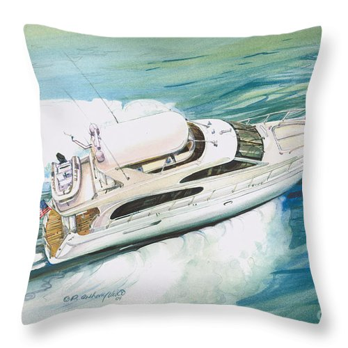 Commissioned Painting Throw Pillow featuring the painting Underway by P Anthony Visco
