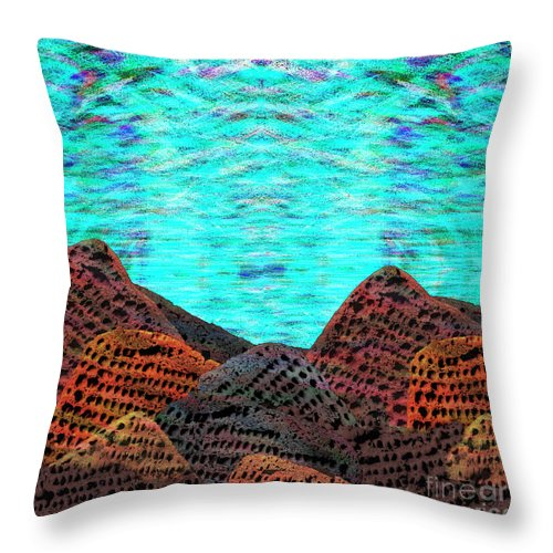 Lost Planet Throw Pillow featuring the digital art Undiscovered Planet by Andy Mercer