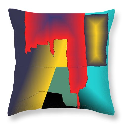 Red Throw Pillow featuring the digital art Unexpected- Red by Helmut Rottler
