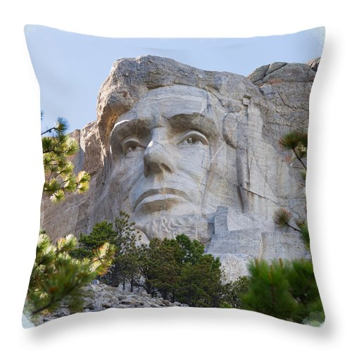 Landscape Throw Pillow featuring the photograph Unfinished Lincoln 2 by John M Bailey