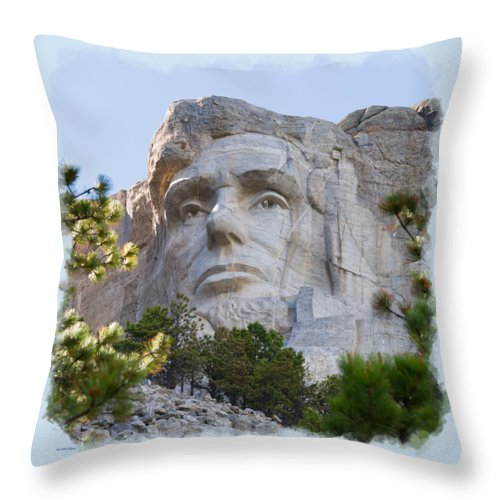 Landscape Throw Pillow featuring the photograph Unfinished Lincoln 3 by John M Bailey