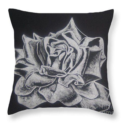 Rose Throw Pillow featuring the painting Unfold by Emily Young