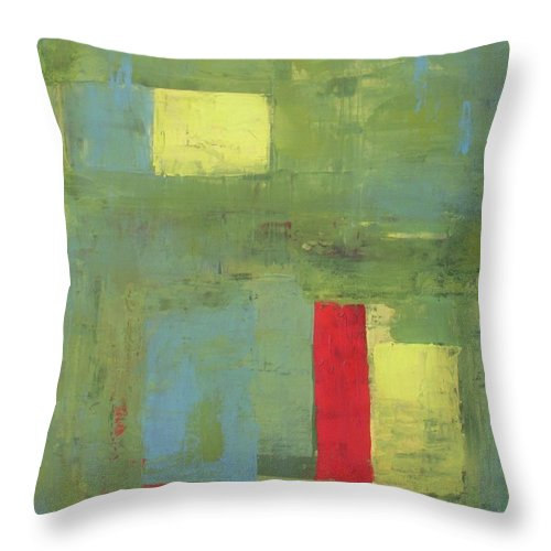 Abstract Throw Pillow featuring the painting Unico by Vesna Antic