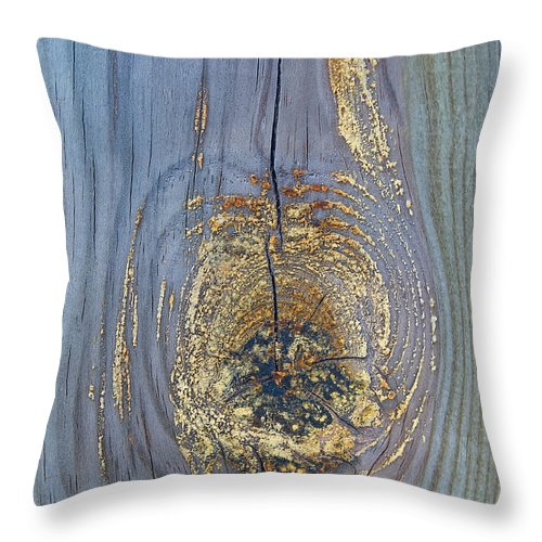 Woodgrain Throw Pillow featuring the photograph Unique Wood Design by Steve Somerville