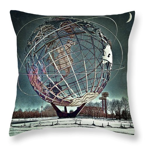 Unisphere Throw Pillow featuring the photograph Unisphere by Chris Lord