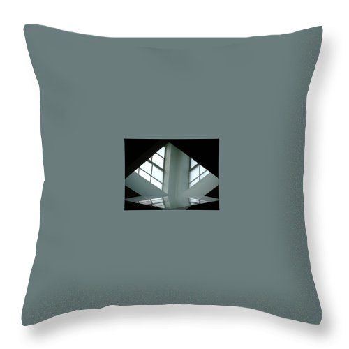 Window Throw Pillow featuring the digital art Unitarian Reflections by Amber Stubbs