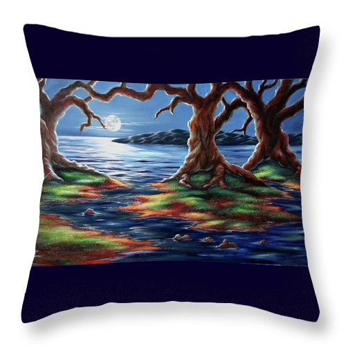 Textured Painting Throw Pillow featuring the painting United Trees by Jennifer McDuffie