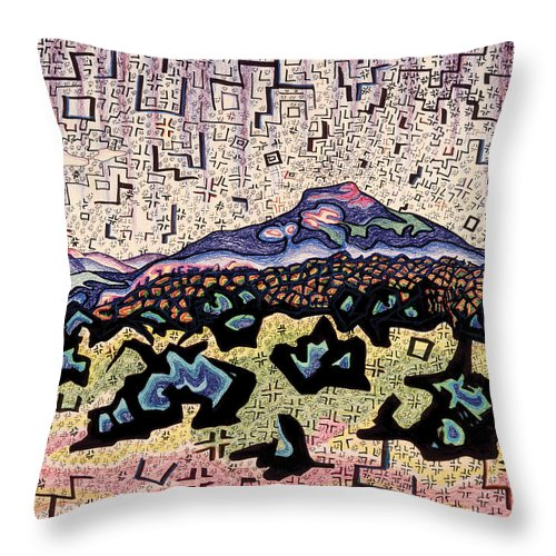 Southwest Throw Pillow featuring the mixed media Unity Awareness In The Field Of Space And Time by Dale Beckman