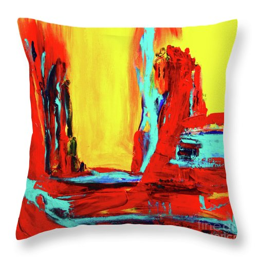 Original Throw Pillow featuring the painting Unity by ElsaDe Paintings