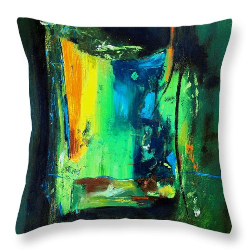 Abstract Throw Pillow featuring the painting Unity In The Body by Ruth Palmer