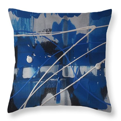 Acrylic Throw Pillow featuring the painting Unity by Jimmy Clark