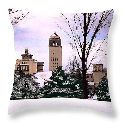 Landscape Throw Pillow featuring the photograph Unity Village by Steve Karol