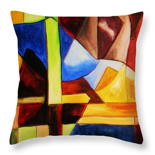 Acrylic Painting Throw Pillow featuring the painting Unity by Yael VanGruber