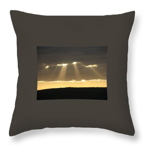 Hills Throw Pillow featuring the photograph Universe Light by Leandro Sebastian  Marquez