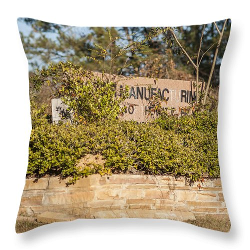 Sign Throw Pillow featuring the photograph Unpreserved 8 by Darwin King
