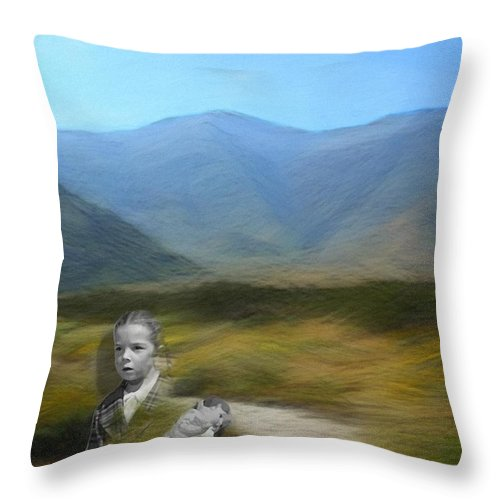 Desert Throw Pillow featuring the digital art Unresolved by Snake Jagger