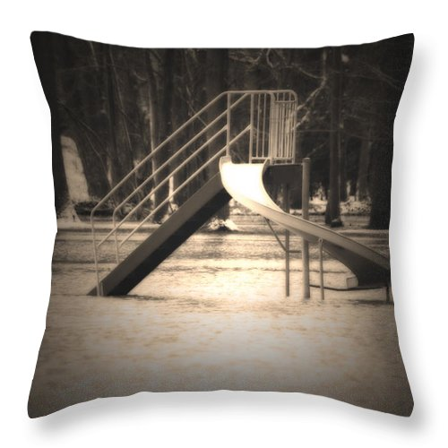 Flood Throw Pillow featuring the photograph Unsafe by Cathy Beharriell