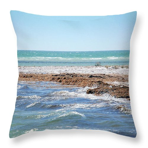 Ocean Throw Pillow featuring the photograph Unspoiled Beauty by Donna Proctor