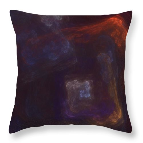 Fantasy Throw Pillow featuring the digital art Untitled 01-12-10-a by David Lane