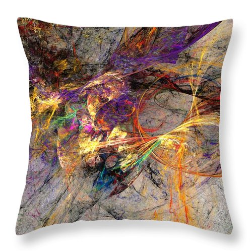 Digital Painting Throw Pillow featuring the digital art Untitled 01-14-10 by David Lane