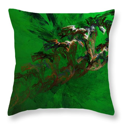 Digital Painting Throw Pillow featuring the digital art Untitled 01-15-10 by David Lane