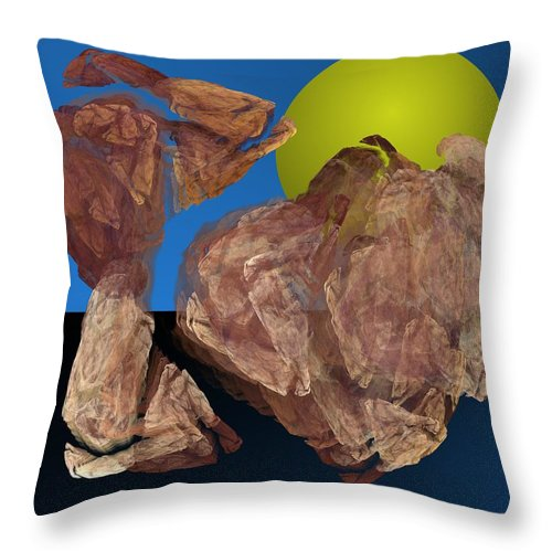 Digital Painting Throw Pillow featuring the digital art Untitled 01-16-10 by David Lane