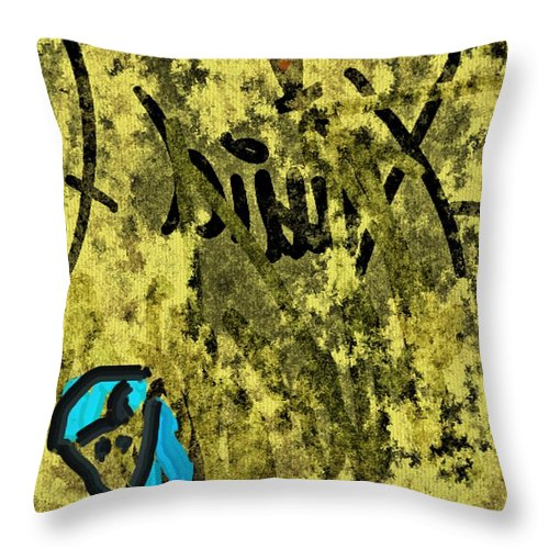Figurative Throw Pillow featuring the painting Untitled 1 by Xavier Ferrer