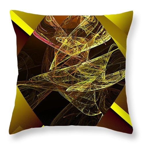 Abstract Digital Painting Throw Pillow featuring the digital art Untitled 11-06-09 by David Lane