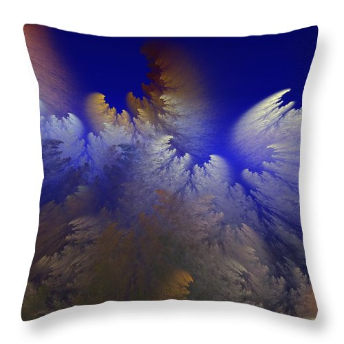 Abstract Digital Painting Throw Pillow featuring the digital art Untitled 11-1-09 by David Lane