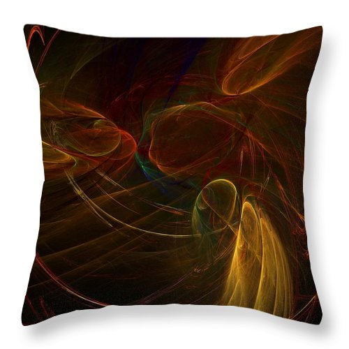 Fantasy Throw Pillow featuring the digital art Untitled 12-01-09-a by David Lane