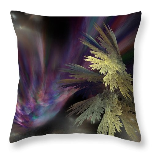 Fantasy Throw Pillow featuring the digital art Untitled 12-05-09 by David Lane