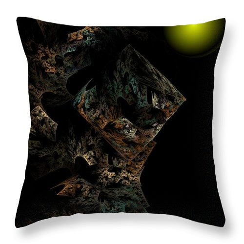 Fantasy Throw Pillow featuring the digital art Untitled 12-18-09 by David Lane