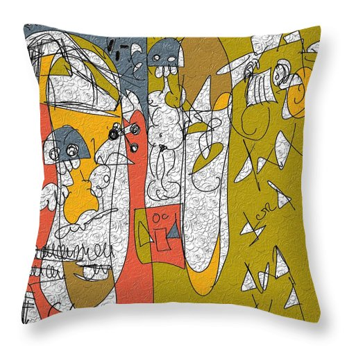 Figurative Throw Pillow featuring the painting Untitled 2 by Xavier Ferrer