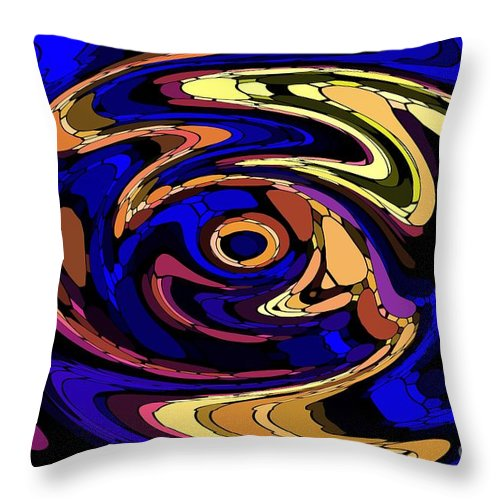 Abstract Throw Pillow featuring the digital art Untitled 7-04-09 by David Lane