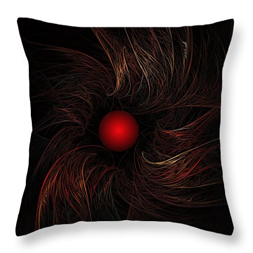 Abstract Digital Painting Throw Pillow featuring the digital art Untitled 9-20-09 by David Lane