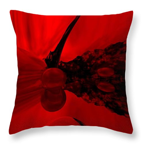 Abstract Throw Pillow featuring the digital art Untitled by David Lane