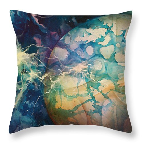 Fantasy Art Throw Pillow featuring the painting Untitled by Michael Lang