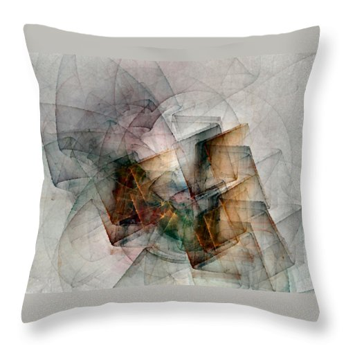 Study Throw Pillow featuring the digital art Untitled Study No. 705 by NirvanaBlues