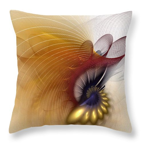 Abstract Throw Pillow featuring the digital art Untitled Study No.601 by NirvanaBlues