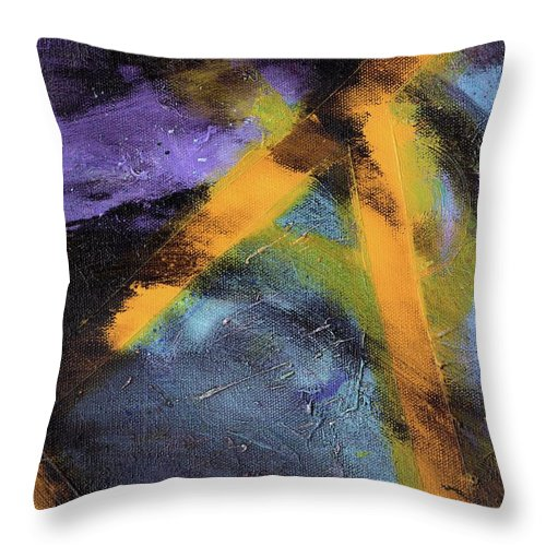 Abstract Throw Pillow featuring the painting Untitled X 2 by Craig Imig