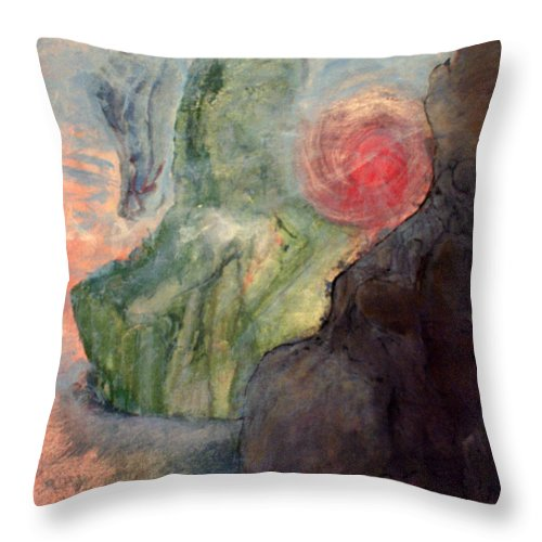 William Throw Pillow featuring the painting Springfield by MountainSky S
