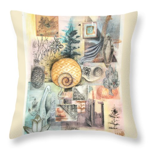 Abstract Throw Pillow featuring the mixed media Up And Away by Valerie Meotti